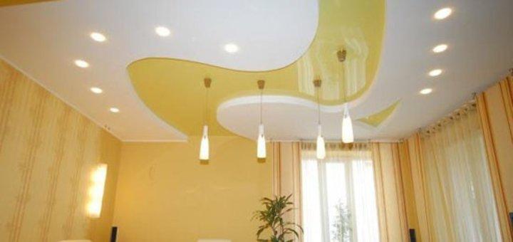Установка бесшовных или шовных натяжных потолков от компании «3D design»