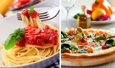 Viva, Italia! Скидка 50% на всю пиццу и пасту в кафе-ресторане Marinara!