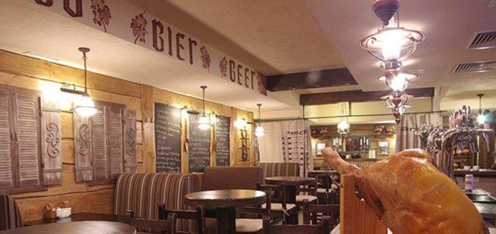 Каждой компании 1 литр пива в подарок! Скидка 35% на все меню кухни и бара в ресторации «Черный поросенок»